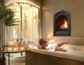 marquis serenity gas fireplace traditional bathroom