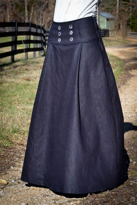sewing pattern long skirt diy tutorial on how to make this denim sailor inspire