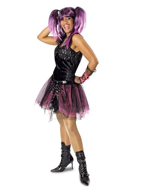 80er jahre 80er jahre punkerin damenkost 252 m schwarz pink