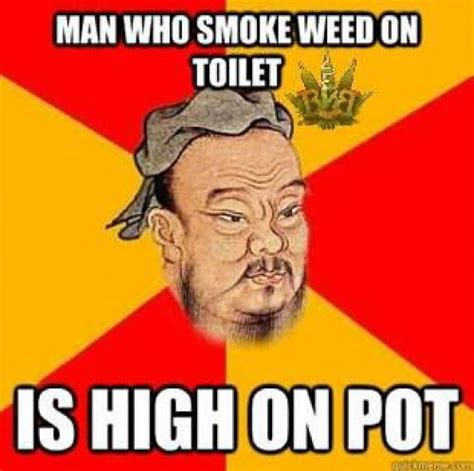 man who smokes weed on toilet is high on pot 420 meme