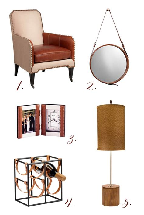 Leather Decor by Leather Home Decor Accents Home Decorating
