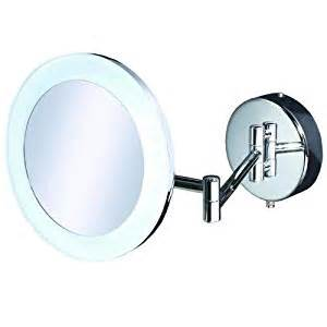 illuminated magnifying mirrors for bathrooms leo magnifying bathroom mirror circular led
