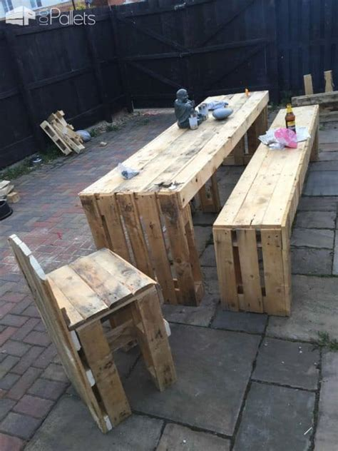 pallet bench seat patio table bench seats 1001 pallets