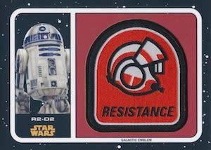 Patch The Last Jedi Emblem Starwars Bordir Order topps wars journey to the last jedi checklist set info boxes date