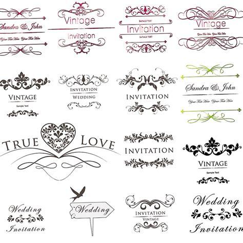 Wedding Invitation Ornament by Inscription For Wedding Invitations With Floral Ornament