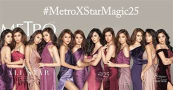 look star magic girls on the cover of metro magazine s