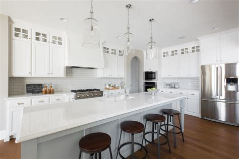 Kitchen Island Light Height by Cambria Newport Quartz Kitchen Traditional With Subway