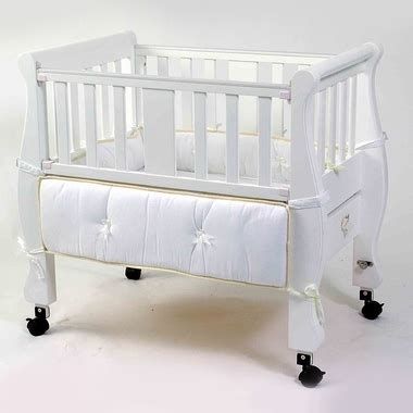 Co Sleeper Brands by Arm S Reach Sleigh Bed Co Sleeper Brand Brand White Free Shipping