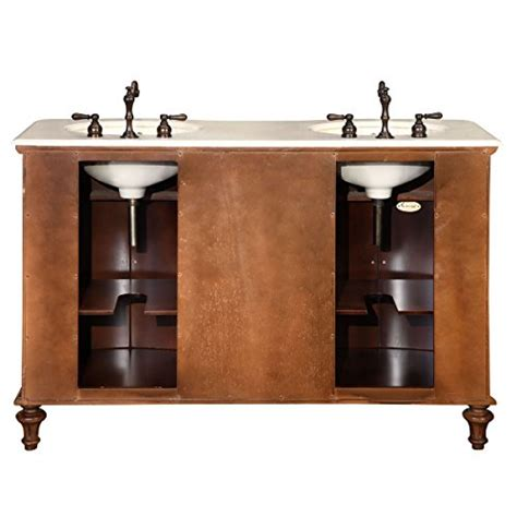 55 inch bathroom vanity cabinet silkroad exclusive marble stone top double sink bathroom