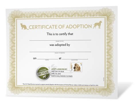 puppy adoption certificate pet adoption certificate printable quotes