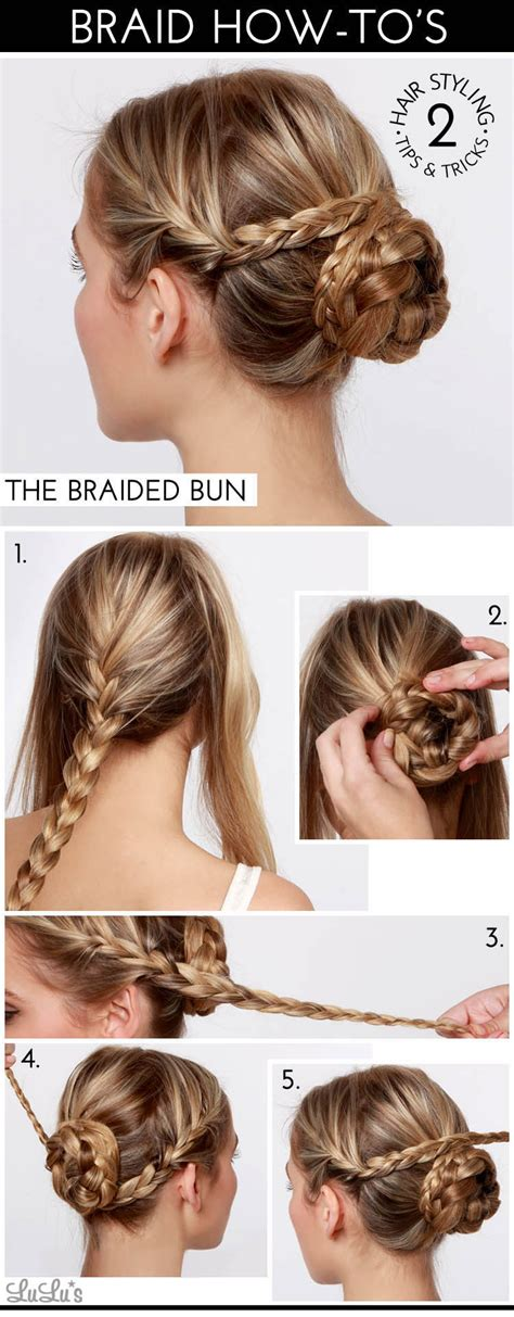 howtododoughnut plait in hair how to braided bun