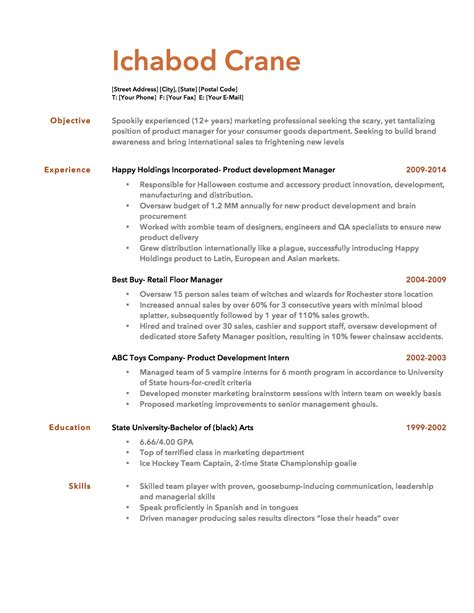 resume template bullet points resume template
