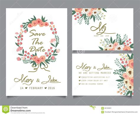 Wedding Invitation Card Template Stock Vector Illustration 65702001 Wedding Website Card Templates