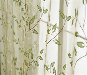 2 Panel Shower Curtain Sheer Leaf Pattern Drapes Charming Country Style