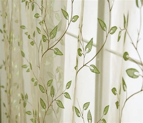 leaf pattern curtain material sheer leaf pattern drapes charming country style