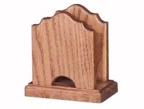 amish oak wood cathedral shape napkin holder