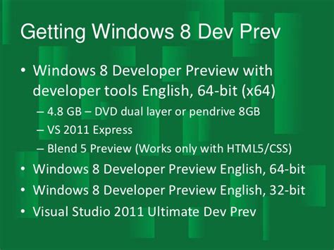 pity the poor windows developer the tools for desktop development windows 8 hot or not