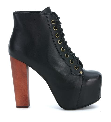 jeffrey cbell black leather boots in brown nero lyst