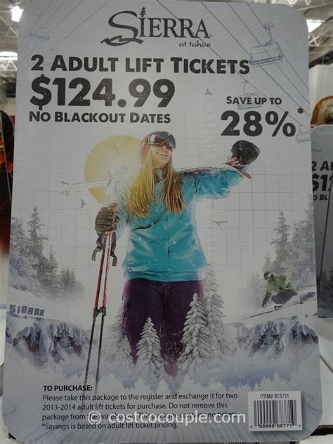 Liftopia Gift Card - sierra at tahoe adult lift tickets