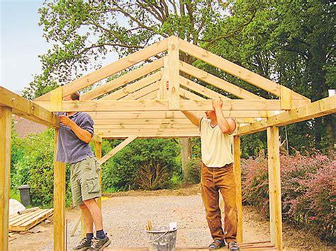 projekte carport selber bauen carport selber bauen holzarbeiten m 246 bel bild 27