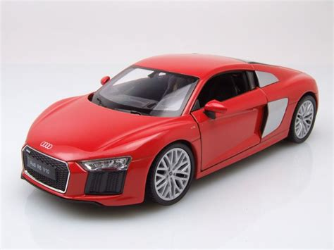 Welly Auto by Audi R8 V10 2016 Rot Modellauto 1 24 Welly 19 95