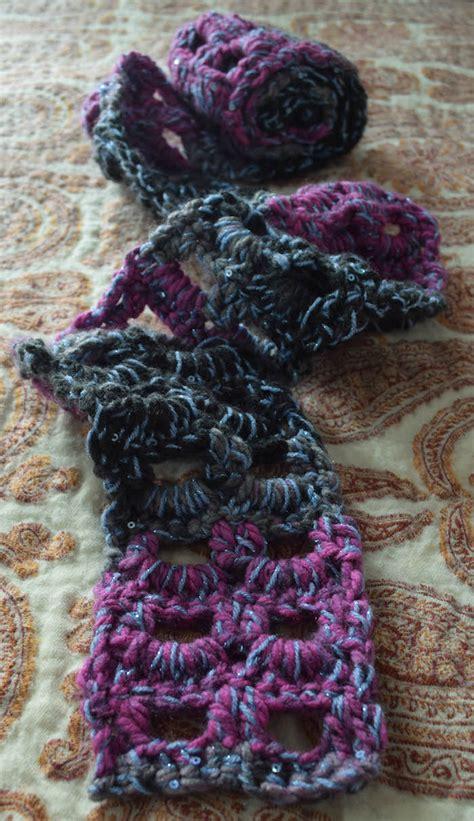 pattern super bulky yarn free pattern glittery accent scarf underground crafter