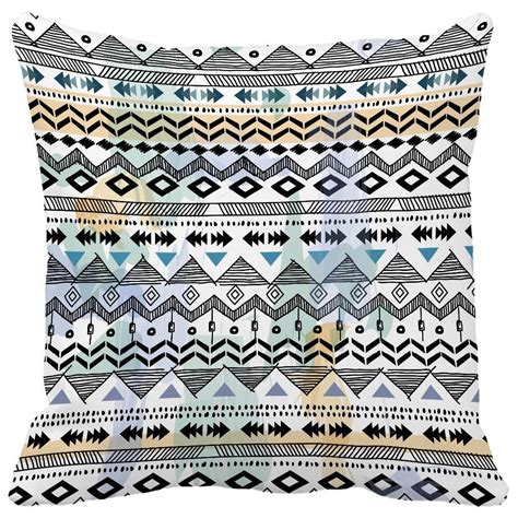 Aztec Print Throw Pillows by Black And White Ripple Aztec Tribal Ethnic Almofada Print