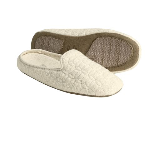quilted slippers acorn quilted eco scuff slippers for 3795x save 50