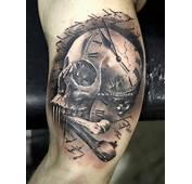 Arm Skull Tattoo By V Tattoos