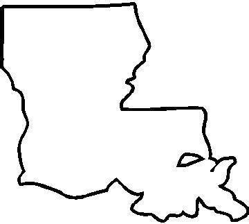 Louisiana Boot Outline state and country decals louisiana decal sticker 02