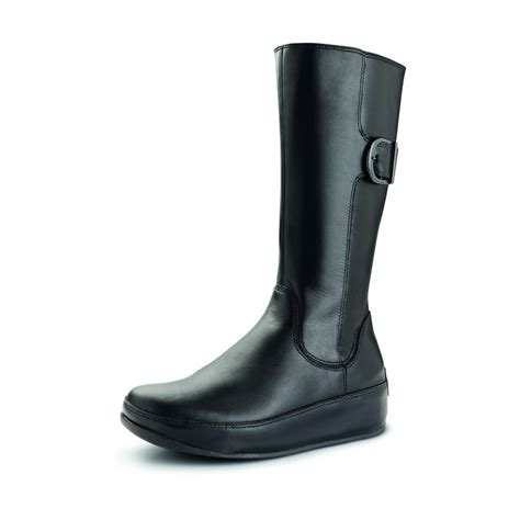 fitflop hooper boots in black footwear from voila uk