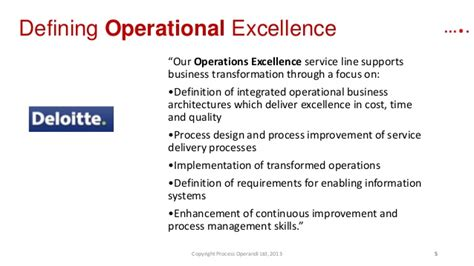Design Excellence Definition | you say process excellence she says operational