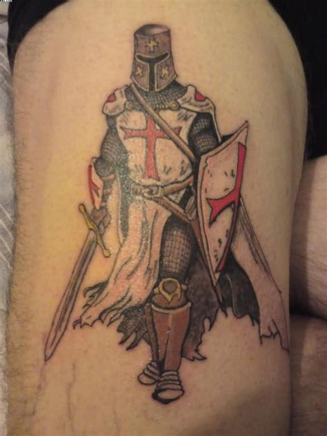 knights templar tattoo cross cool styled and detailed warrior on