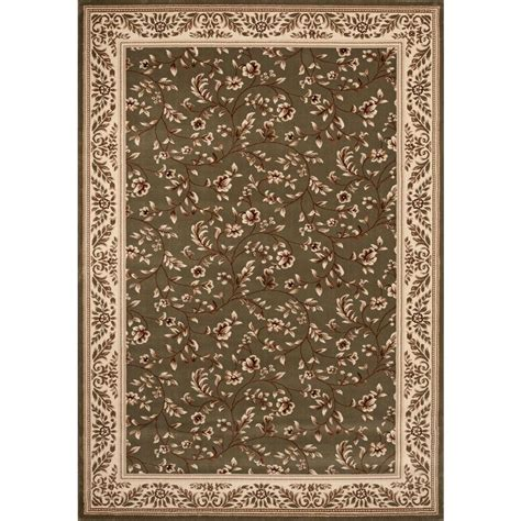 home world rugs world rug gallery manor house green floral 7 ft 10 in x 10 ft 2 in area rug 7861 the home