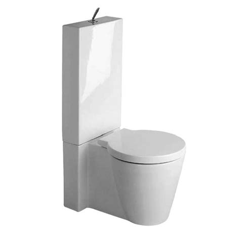 White Designer Kitchens duravit starck 1 close coupled toilet with cistern seat