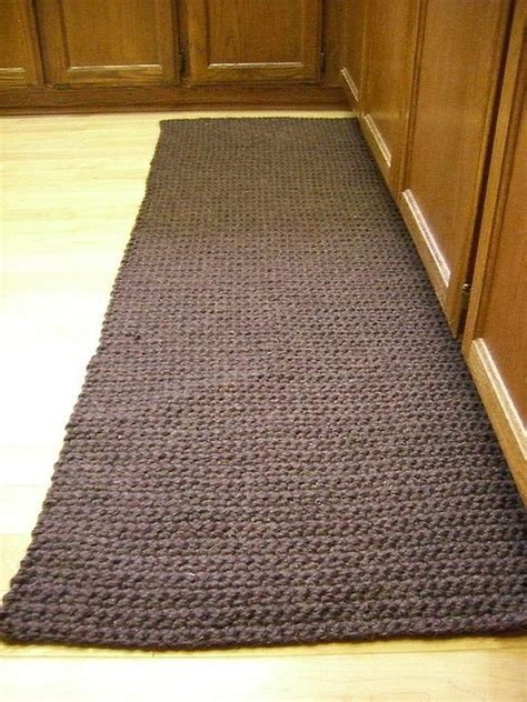 Thick Kitchen Rugs Crochet Kitchen Rug Brand Wool Ease Thick And Yarn 7 Balls Of Yarn And Took About