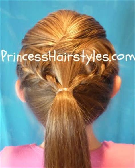 Easy Gymnastics Hairstyles by Gymnastics Hair Braid Ponytail Hairstyles For