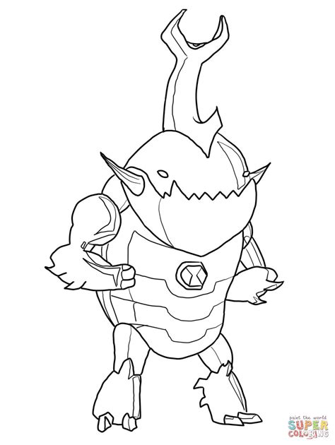 ben 10 coloring pages games fresh alien coloring page 86 in free kids with alien