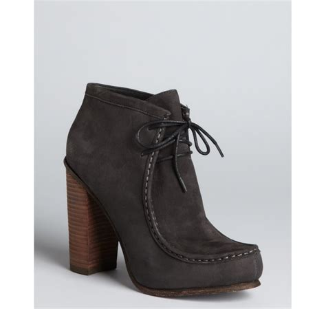 dolce vita black leather stacked heel moccasin boots