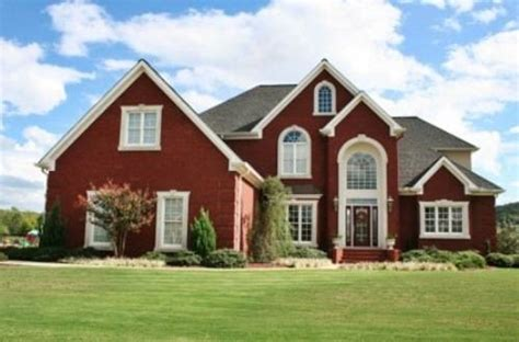 red brick house color schemes exterior paint colors red the interior design
