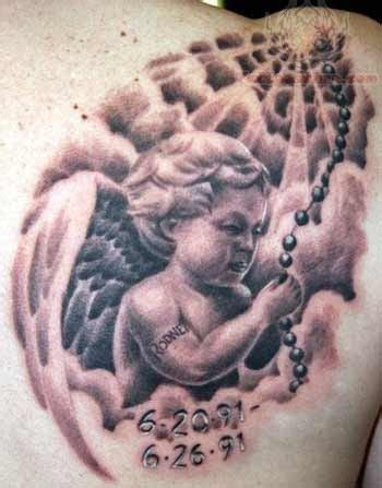baby cherub tattoos designs awesome baby memorial