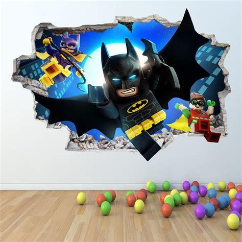 lego batman wallpaper bedroom lego batman wall sticker 3d look boys girls bedroom wall