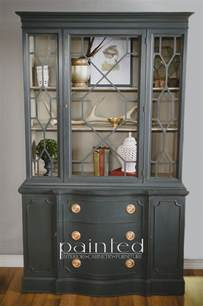 Broyhill China Hutch Antique China Cabinet In Annie Sloan Chalk Paint Painted