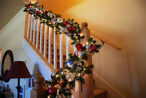 stair railing christmas ideas decorate your banister for