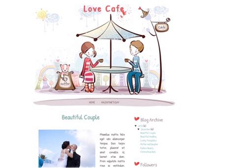 love templates for blogger love cafe blogger template lovely templates