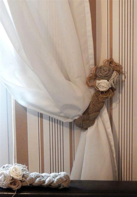 country curtain tie backs rustic curtain tie backs two burlap tie backs linen