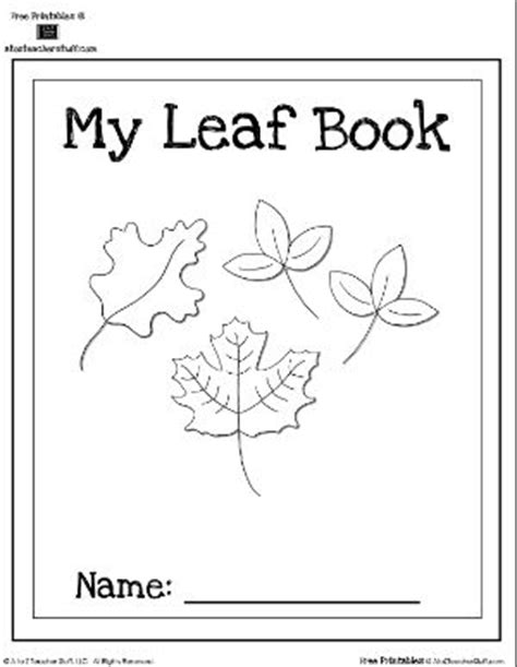 Printable Book About Leaves | leaf book cover and writing practice a to z teacher