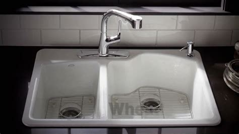 kohler cast iron kitchen sink kohler kitchen products wheatland cast iron sink
