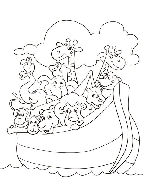 coloring book pages of noah s ark noah s ark coloring page parshat noach pinterest