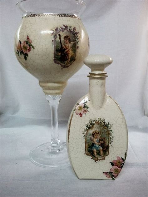 Decoupage On Glass Bottles - best 25 decoupage glass ideas on diy